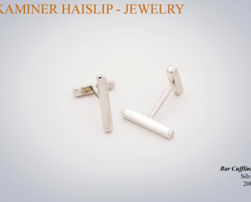 These cufflinks are both classic and contemporary.