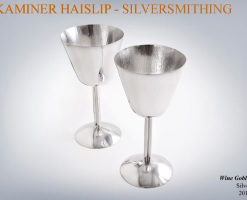 These silver wine goblets can be personalized with engraving.