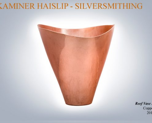 This raised copper vessel was inspired by marine life seen on my scuba diving adventures.
