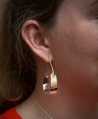 ae6f03f95 Kaminer Haislip's handcrafted, original large hoop earrings are one of her  most popular jewelry designs! They are extremely versatile for a wide  variety of ...