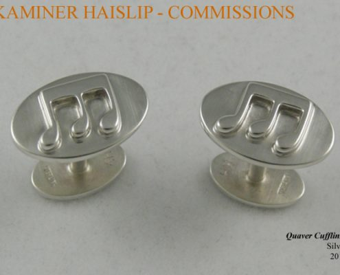 cufflinks quaver silver cufflink commissions