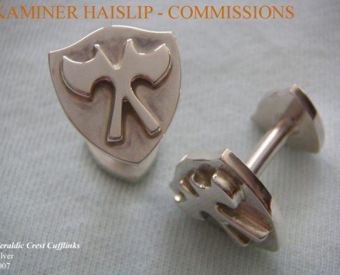 cufflinks battle axe silver cufflink custom design commissions