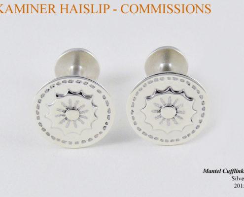 custom silver cufflinks commissions