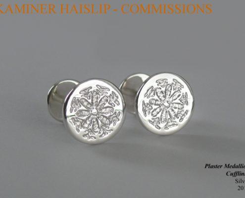 plaster medallion cufflinks
