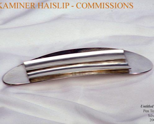 trays contemporary silver pen tray