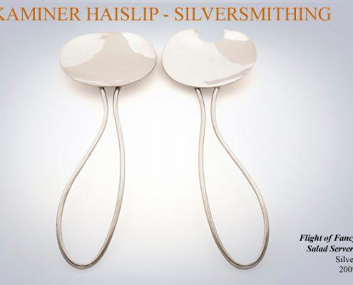 spoons silver salad servers