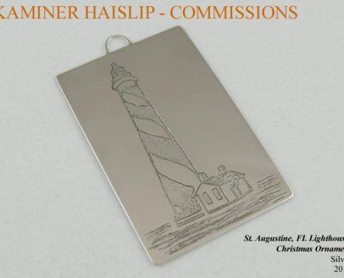 silver christmas ornament custom design commissions
