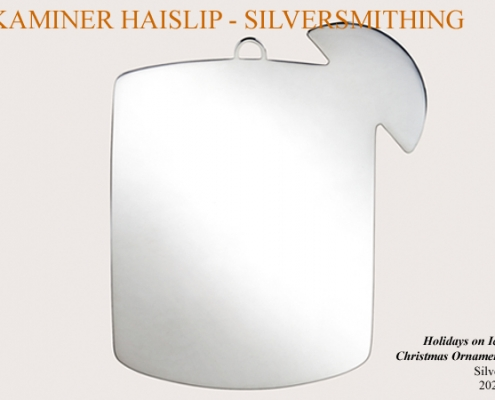 silver cocktail christmas ornament