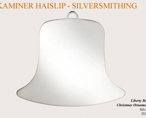 liberty bell silver christmas ornament