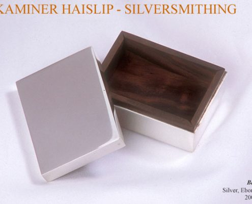 boxes silver box ebony rectangular box