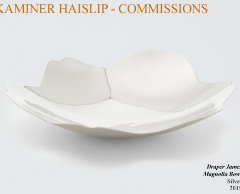 bowls commissions silver magnolia bowl