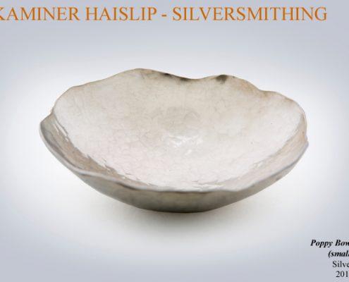 bowls silver bowl poppy