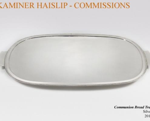 oval silver tray