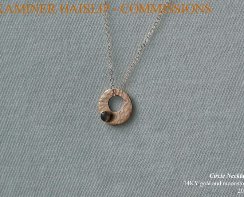 necklaces commissions hammered gold pendant moonstone custom design