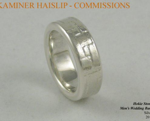 wedding bands silver wedding ring hokie stone