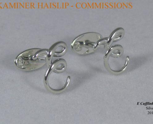 initial cufflinks silver cufflink
