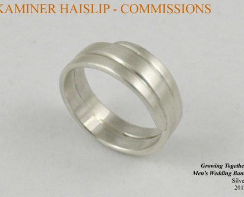 commissions men's wedding band silver