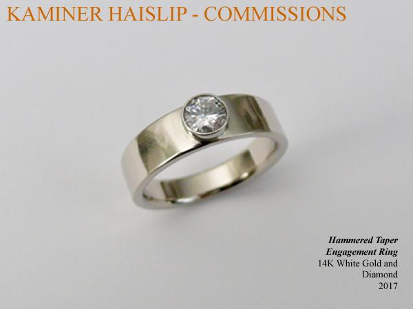 14k white gold diamond engagement ring custom commissions