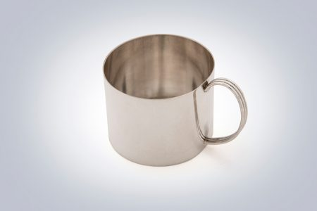 silver baby cup