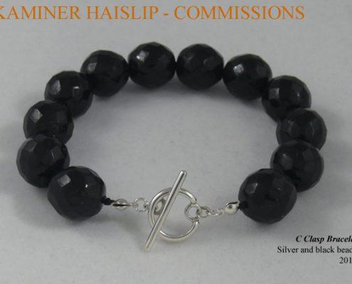 bracelets jet bead silver bracelet commissions