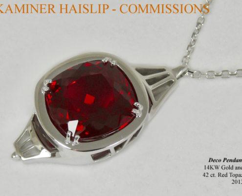 white gold red topaz commissions custom design