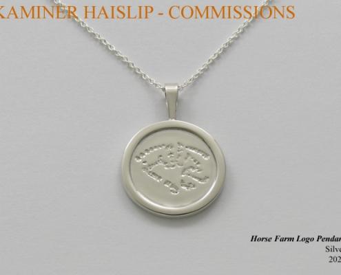 horse farm logo pendant