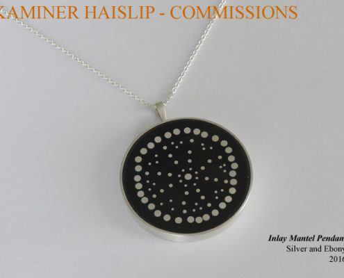 silver ebony pendant commissions
