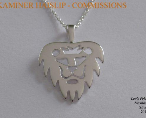 necklaces commissions silver lion pendant