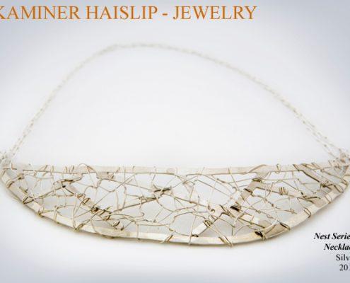 necklaces woven silver necklaces nest
