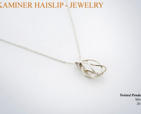 necklaces silver twisted pendant