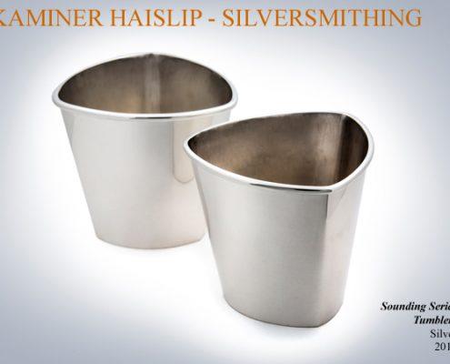 silver tumbler