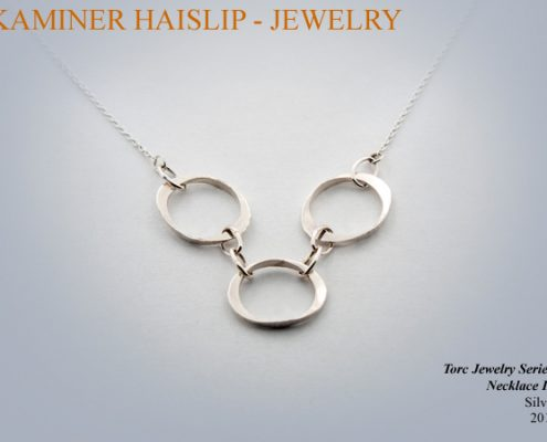 torc jewelry hammered silver link necklace