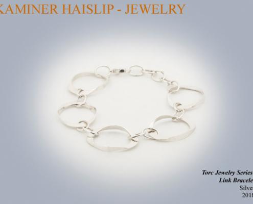 bracelets hammered silver link bracelet