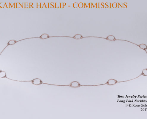 14k rose gold long necklace custom commission bespoke commissions
