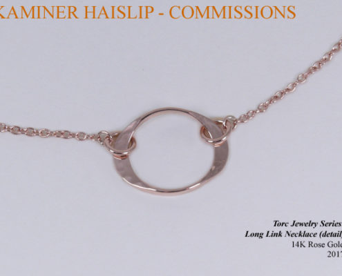 rose gold necklace commissions