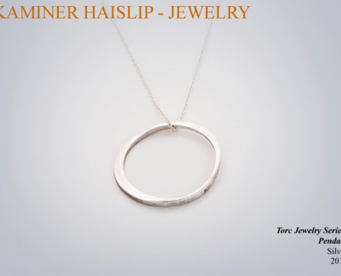 necklaces torc jewelry hammered silver pendant
