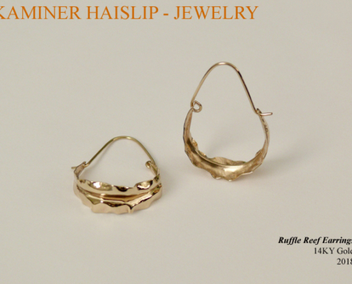 14KY gold reef earrings