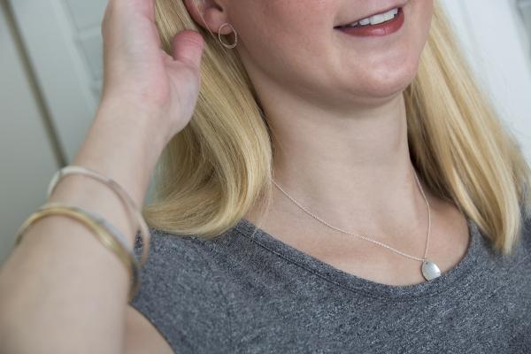 torc post earrings & poppy pendant