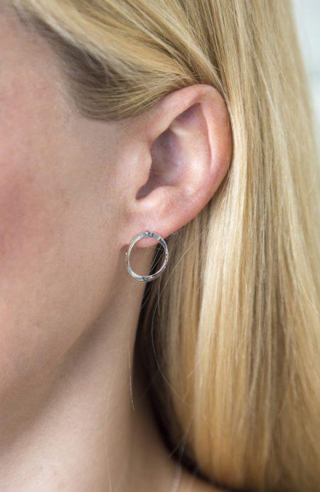 torc post earrings
