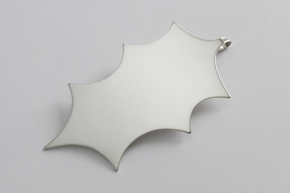 holly leaf christmas ornament