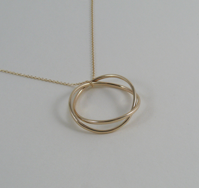 Interlocking Gold Pendant