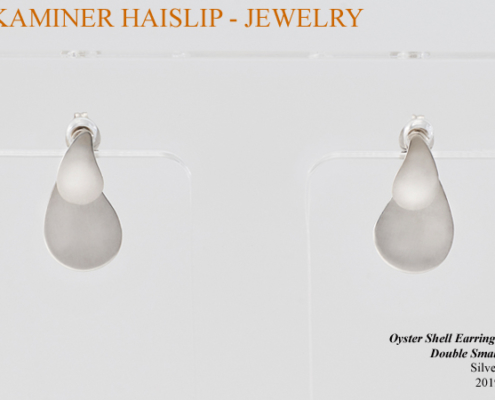 silver oyster jacket earrings