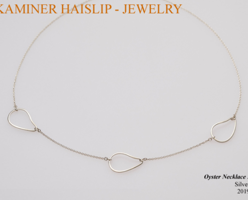 necklaces silver oyster link necklace