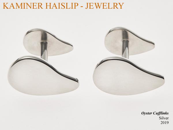 oyster shell cufflinks