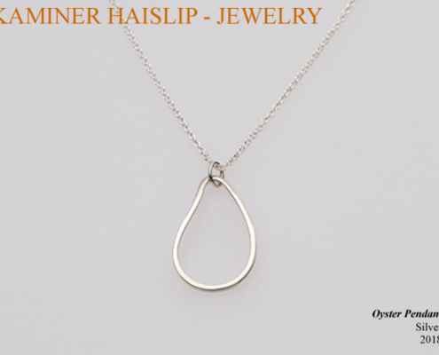silver oyster pendant
