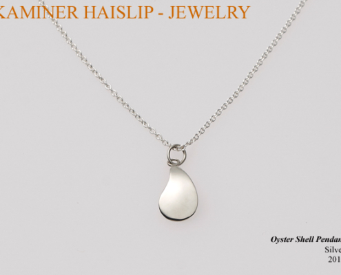 silver oyster shell pendant