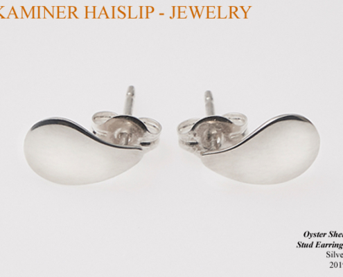 oyster stud earrings