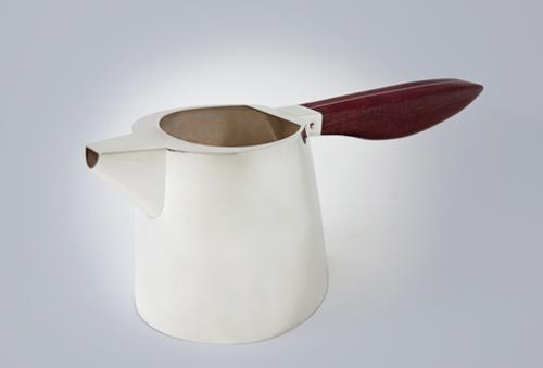silver purple heart teapot silversmith Kaminer Haislip