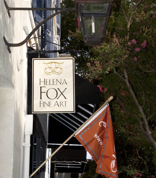 Helena Fox Fine Art gallery downtown Charleston South of Broad