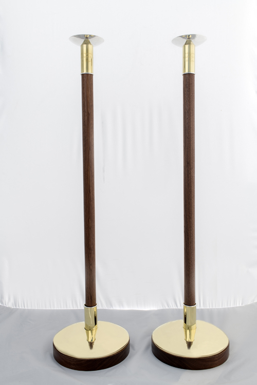 processional torches brass silver walnut episcopal church custom design